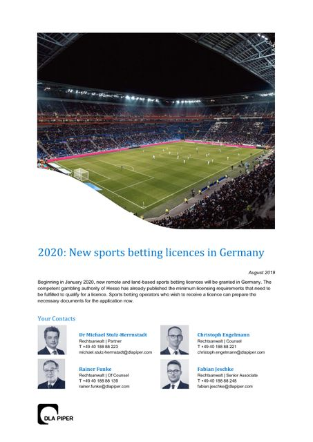 Update: German sports betting licensing procedure continues featured image