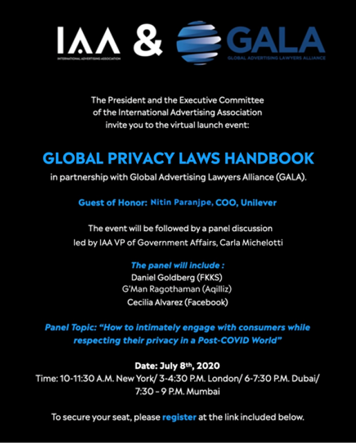 You're Invited:  Virtual Launch Event for the GALA/IAA Guide to Privacy & Marketing featured image