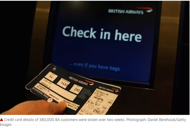 Under GDPR British Airways (BA) Could be Fined £500M ($650) featured image