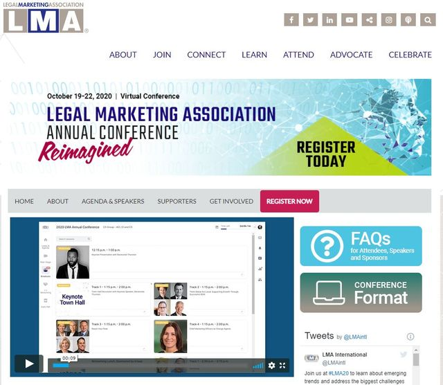 LMA 2020 - Legal Marketing Association Annual Conference Reimagined October 19-22 featured image