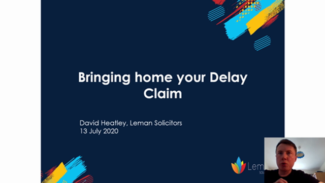 Bringing Home your Delay Claim featured image