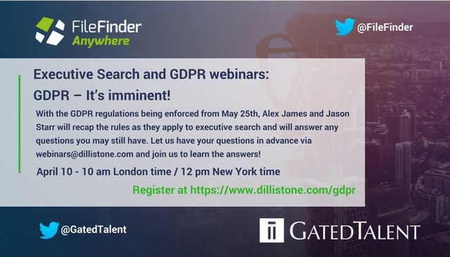 GDPR Q&A webinar for Executive Recruiters featured image