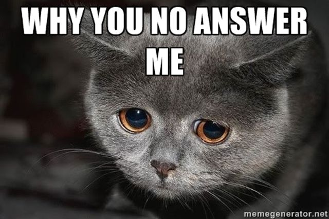 Why You No Answer Me?! featured image