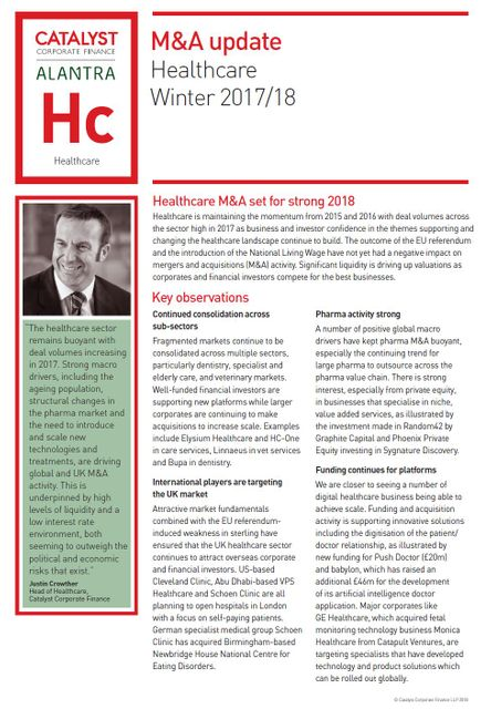 Healthcare M&A set for strong 2018 featured image