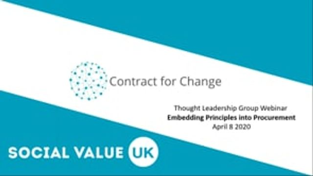 Contract for Change - A recent webinar on how to procure for better featured image