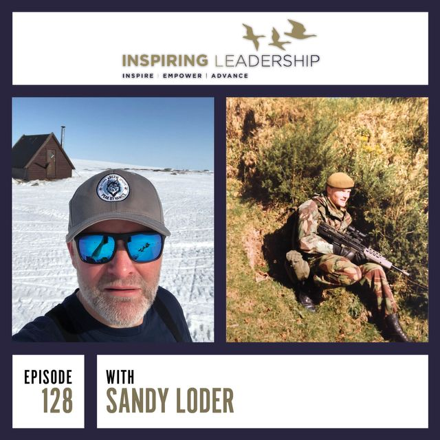 A podcast interview of Sandy Loder on Inspiring Leadership featured image