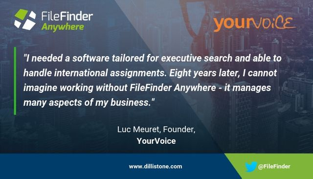 Yet another Search firm recommends FileFinder Executive Search Software featured image
