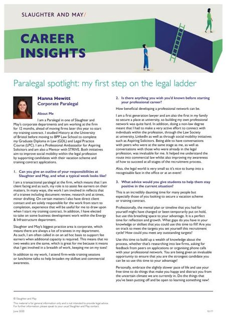 Paralegal spotlight: my first step on the legal ladder featured image