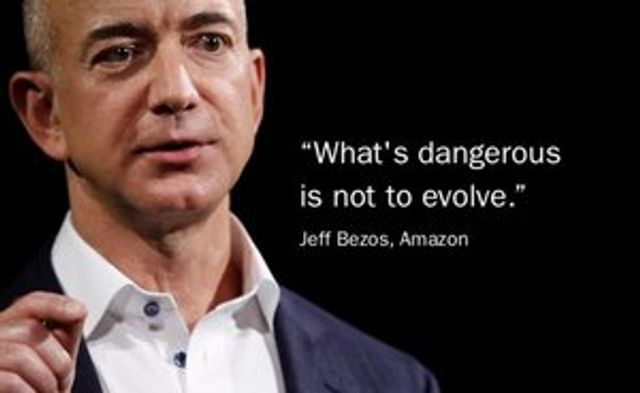 """In business, what's dangerous is not to evolve."" featured image"