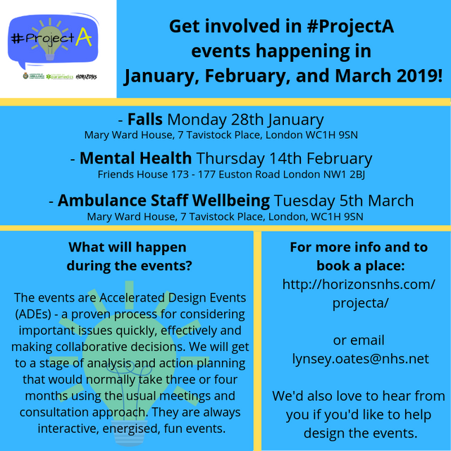Get Involved in #ProjectA Events During January, February, and March featured image