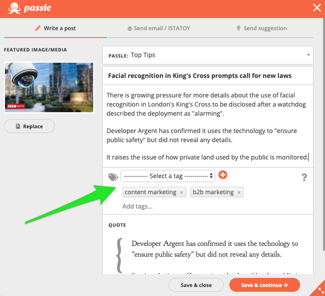 New Feature: Tagging Content - The Value and How to Use Them featured image