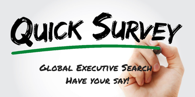Global Executive Search Survey - Have Your Say! featured image