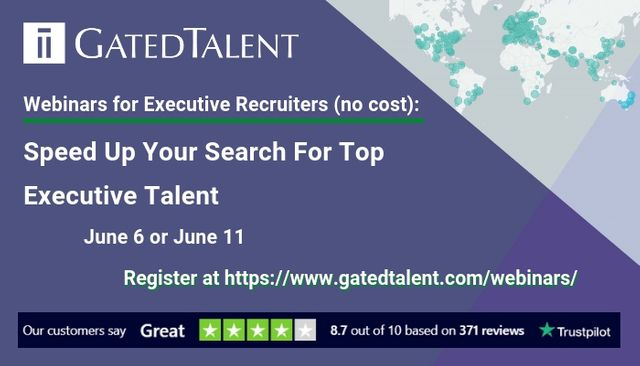How to Speed Up Your Search For Executives - complimentary webinars for Executive Recruiters featured image
