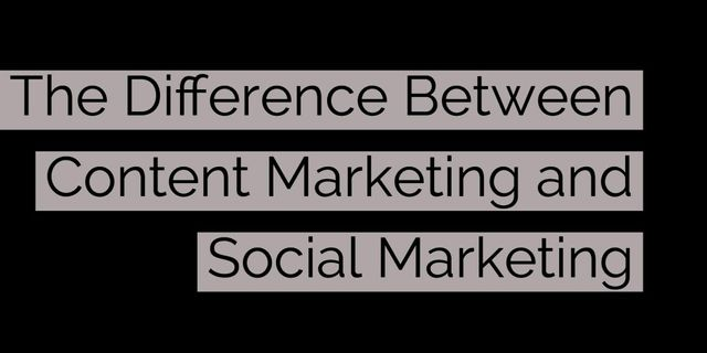 Do you know the difference between social and content marketing? featured image