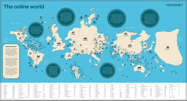 World size based on internet domains featured image