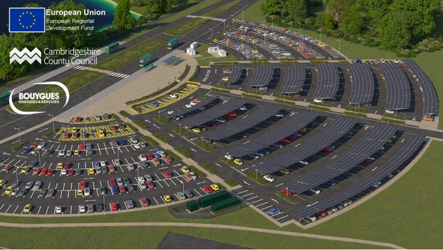 UK's 'largest solar carport' – with additional storage – planned for St Ives Park & Ride featured image